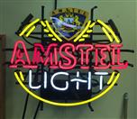 AMSTEL LIGHT BEER NEON LIGHT UP SIGN BAR PUB GAME ROOM MAN CAVE RARE